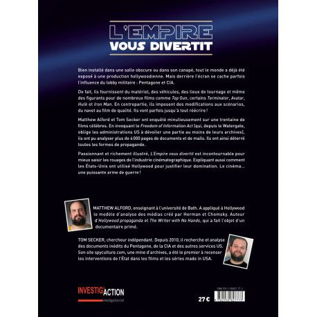 Livre - L'Empire vous divertit. Comment la CIA et le Pentagone utilisent Hollywood - Matthew Alford et Tom Secker
