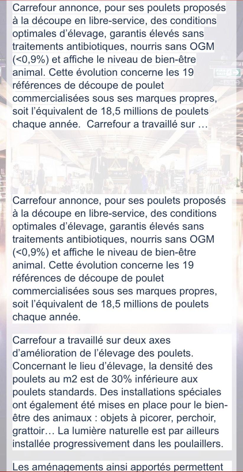Bien être animal : Carrefour affiche son score