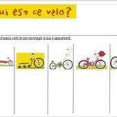 Retrouve les personnages de A qui est ce vélo ? chez Lydie - école petite section