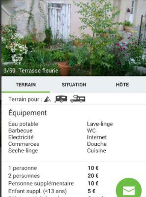 Mobile : l'appli HomeCamper & Gamping - le camping, côté jardin