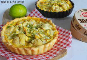 Tartelette Chou Fleur, Camembert et Citron Vert