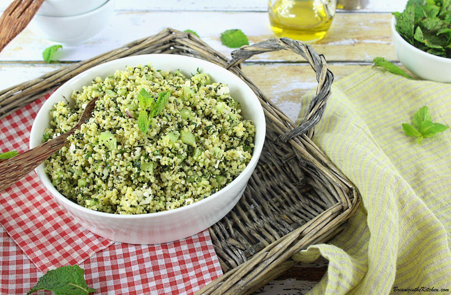 Taboulé de Millet, Concombre, Feta et Menthe