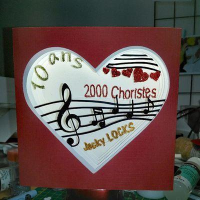 Carte diorama 10 ans 2000 Choristes
