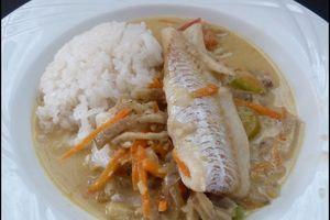 Curry de légumes au lait de coco et son poisson
