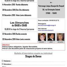 Stages de Danses de Salon - Novembre et Décembre 2015.