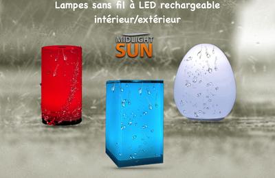 Lampes sans fil à LED rechargeableintérieur/extérieur - MIDLIGHTSUN