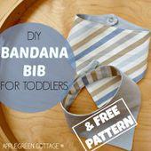 Bandana bib tutorial - with a free pattern