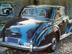 De 1951 à 1955, Mercedes  produit cette somptueuse 300S en version coupé, cabriolet et limousine...