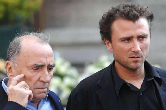 Claude Brasseur et son fils Alexandre  © Crédit photo : AFP