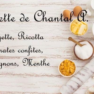 Recette Tarte Courgette Ricotta de Chantal A.