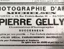 Pierre GELLY -1869/1957- photographe à BAYONNE par Gérard Laulhé