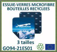 Essuie-verres en microfibre recyclée à partir de bouteilles plastiques