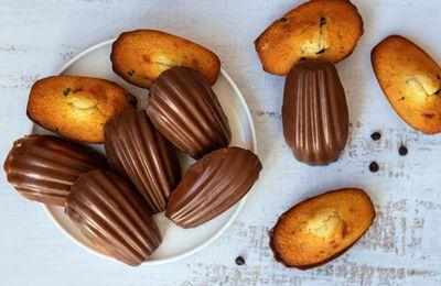 Madeleine aux pépites de chocolat et coque en chocolat