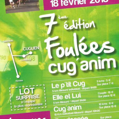 7 ème Edition des Foulées Cug'Anim -18 février 2018