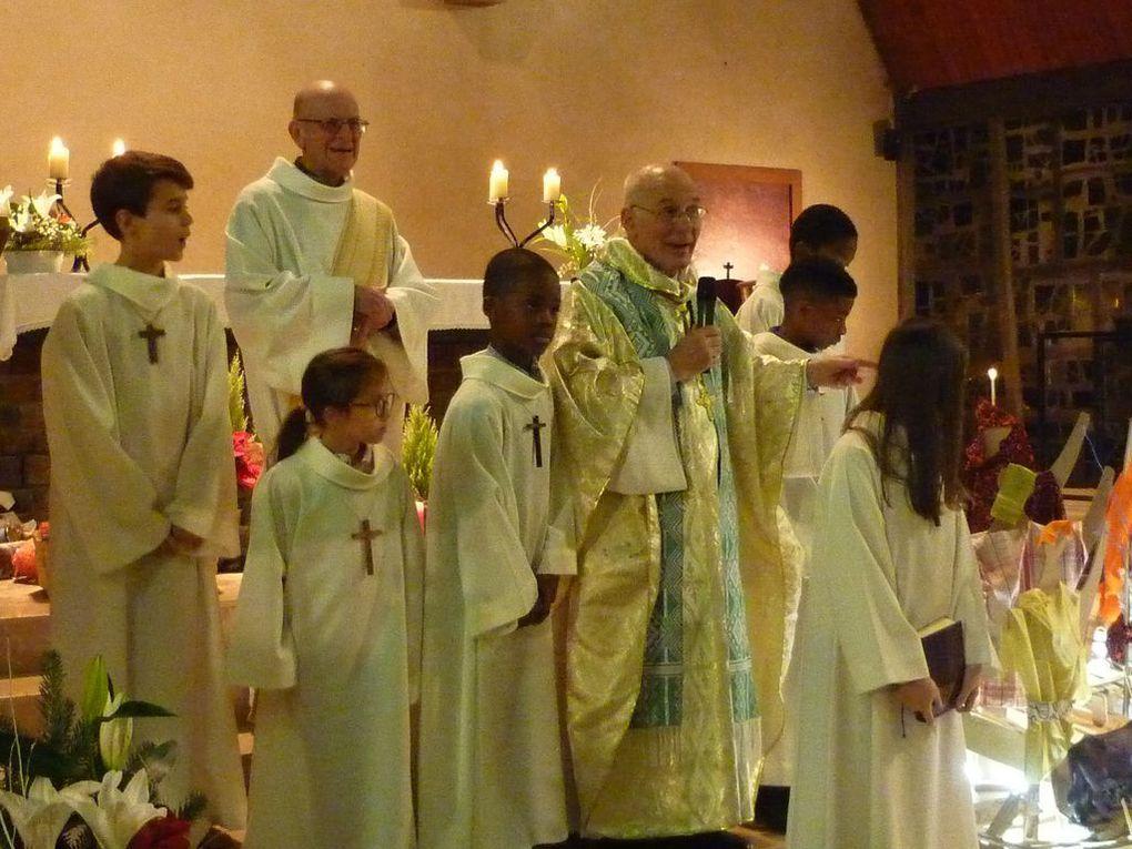 Photos - veillée  et messe de la nuit de Noël - Message de notre évêque