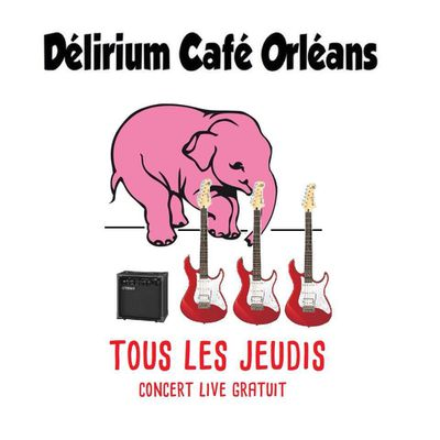 CONCERTS GRATUITS organisés par le DELIRIUM CAFE ORLEANS du 31 janvier au 28 mars 2019
