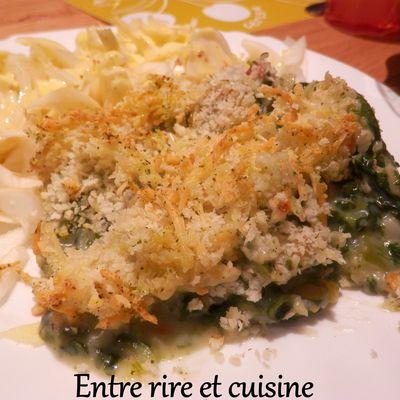 Gratin de Gnocchi crémeux et riches en légumes (recette sans viande)