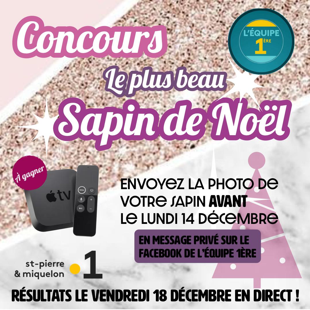 St-Pierre-et-Miquelon la 1ère : « L'équipe 1ère » lance son concours « Le plus beau sapin de Noël » !