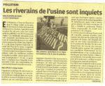"""Aprochim """"filiale de Chimirec en Mayenne"""" : Les riverains de l'usine sont inquiets"""
