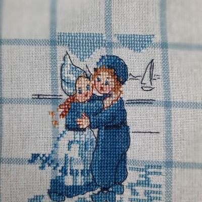 """Broderie: Torchon """"Pays Bas"""", 15."""