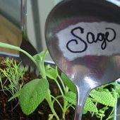 ~Scraps and Scribbles~: Hand-made Goodie of the Week: Silverware Garden Markers
