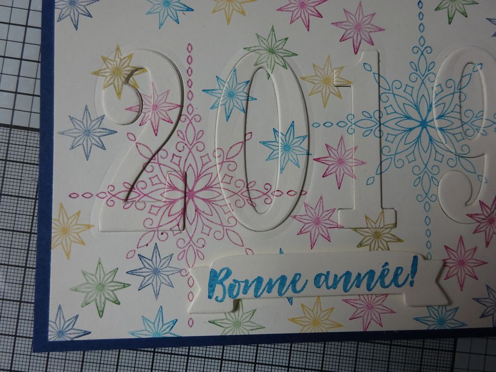 carte de nouvel an : Blog Hop ink Stamp Share de décembre: la carte éclipse