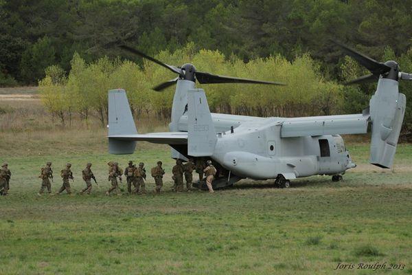 Des MV-22 Osprey en exercice en France