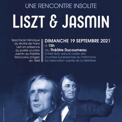 Agen, dimanche 19 septembre 2021, Liszt-Jasmin au théâtre Moncorny