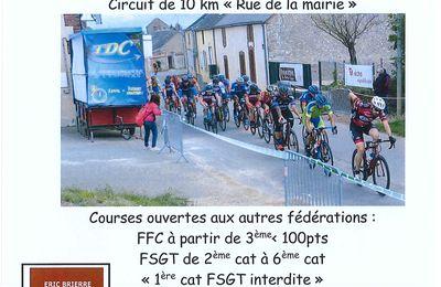 Les courses UFOLEP du samedi 26 septembre à Fontenay sur Conie (28)