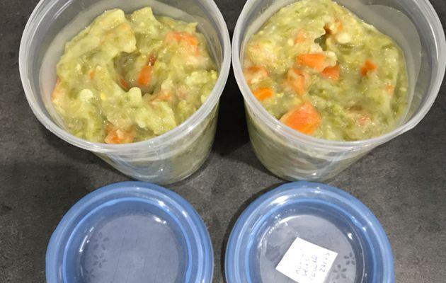 Purée de pommes de terre haricots verts carottes bébé dès 12 mois