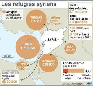 Des familles syriennes appellent à l'aide aux portes de Paris