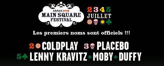 Main Square Festival 2009 : de nouveau, une affiche prestigieuse.