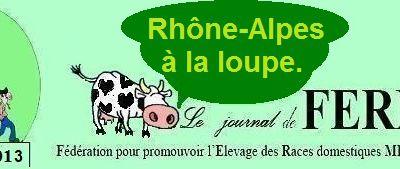 Diversité agricole en Rhône-Alpes: les animaux de ferme.