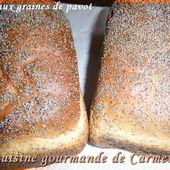 Pain aux graines de pavot - Cuisine gourmande de Carmencita