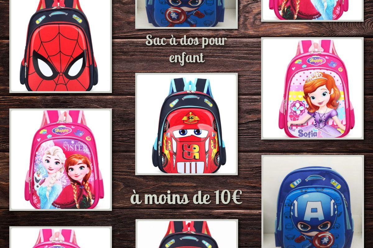 Des sacs à dos Disney, Marvel, Cars à moins de 10€ .