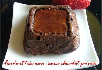 Ultra fondant très noir & sa sauce au chocolat poivrée de Sichuan