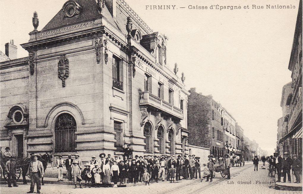 Firminy : Une Caisse d'Epargne imposante pour rassurer l'épargnant.