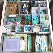 Embellishment Storage and Organization by Color