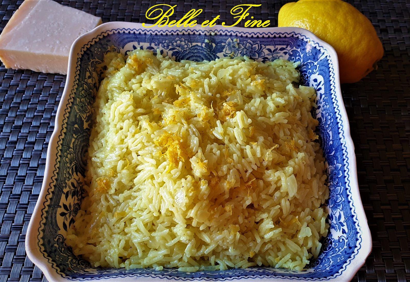 Riz aux citron et parmesan
