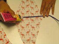 Avec Mondial Tissus, je réalise une guirlande à fanions