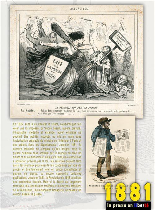 1881, LA PRESSE EN LIBERTÉ, exposition à louer/imprimer