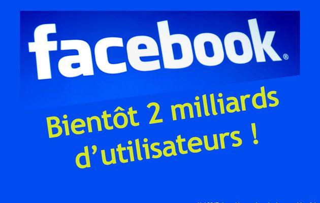 Web : Facebook toujours en forme et s'approche des 2 milliards d'utilisateurs
