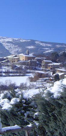 St Julien Du verdon Chute de neige en février