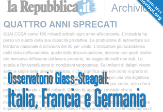 Osservatorio Glass-Steagall: Italia, Francia e Germania