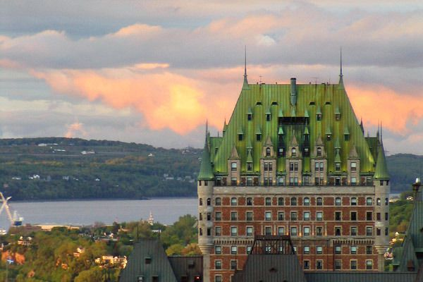 visitheworld:  Château Frontenac at sunset, Quebec City, Canada (by edji).