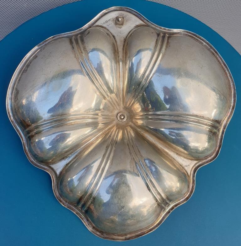 Plat trilobé métal argenté W. Suckling Birmingham1944 - 40 euros