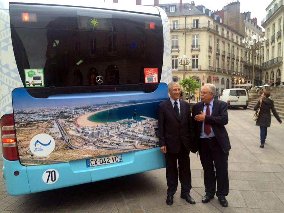 Futurs bus d'Agadir ? Le Maire Tarik KABBAGE à la Parade des 7 000 vélos