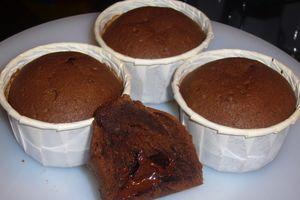 Muffins chocolat coeur corsé