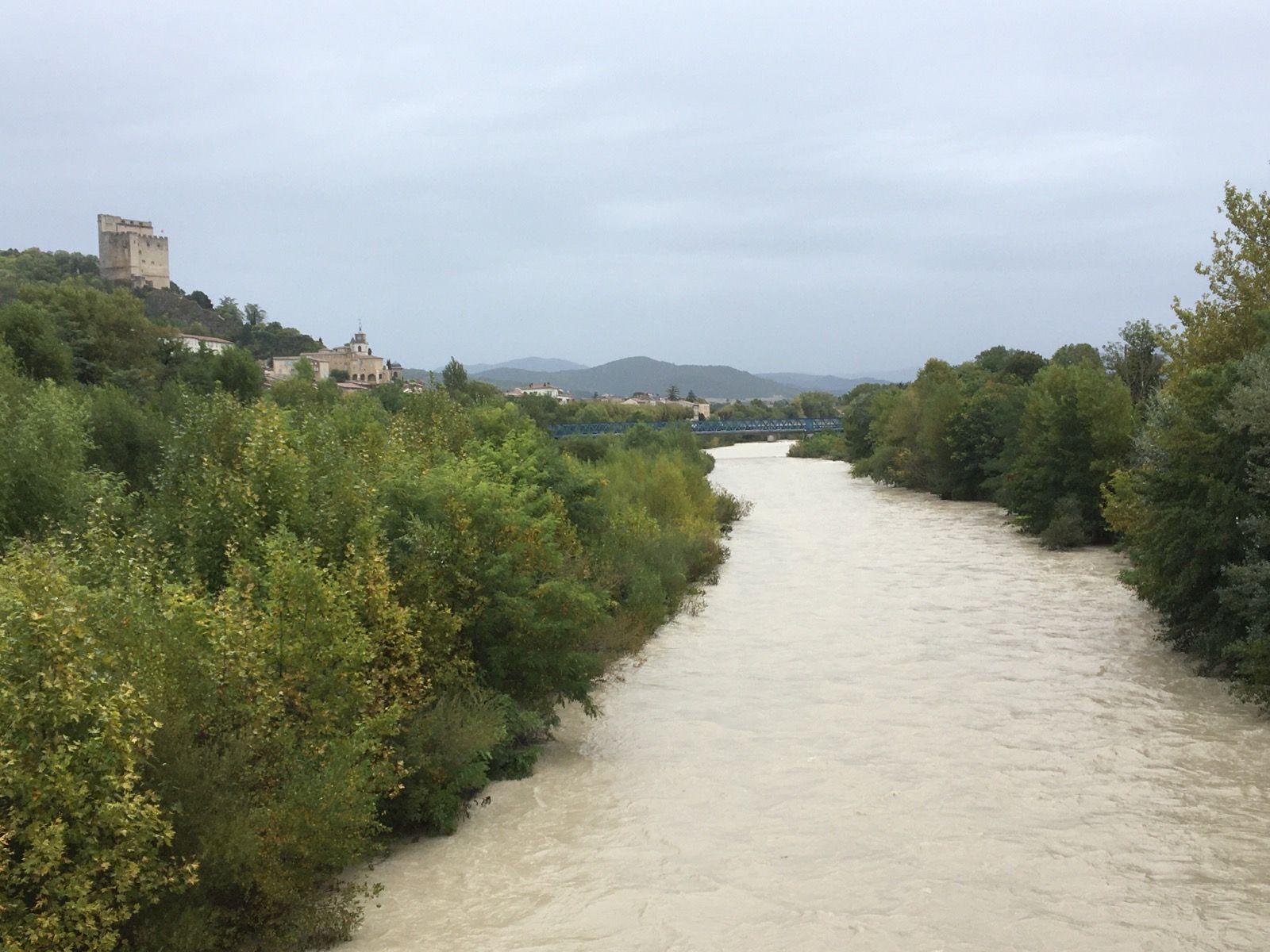 La Drôme, vue depuis le pont de la déviation.