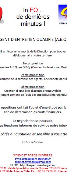 AEQ, propositions FO à St Venant
